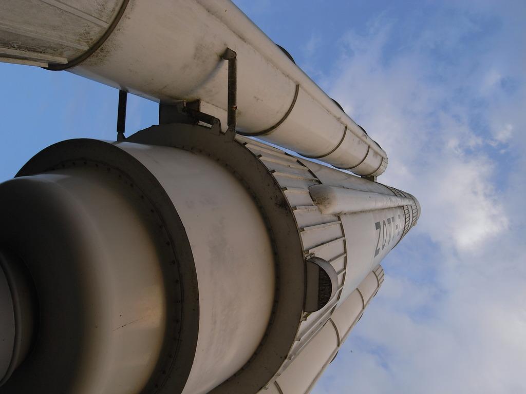 H2ロケット実物大のオブジェ