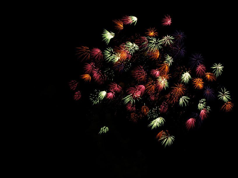 夕べの花火