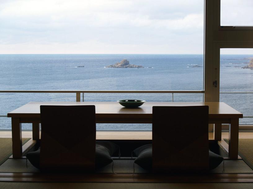 海の見える宿