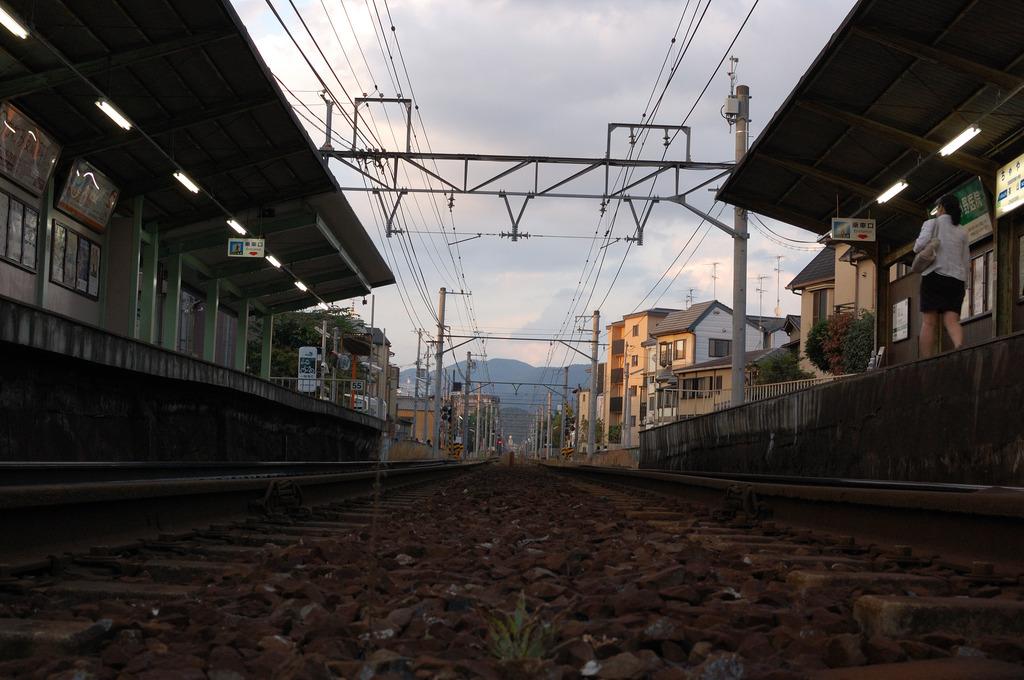 叡山線茶山駅