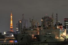 船とタワー