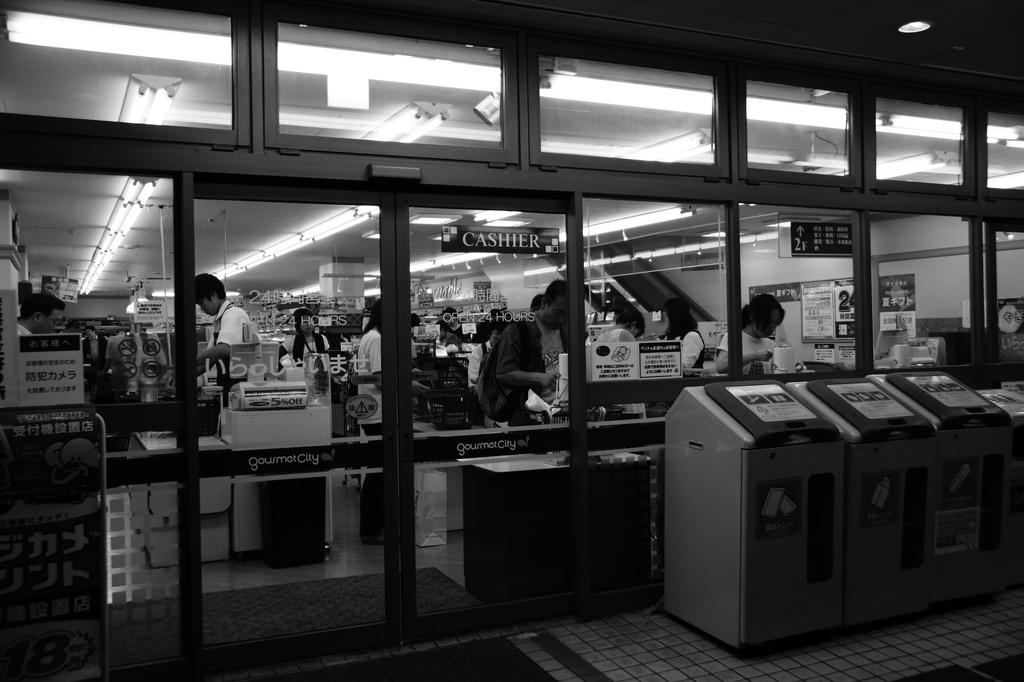 深夜のマーケット