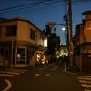 夕方と十字路