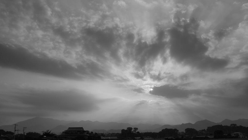夕陽のキラメキ。