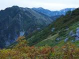 奥大日岳、立山連峰の稜線