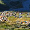 朝の雷鳥沢キャンプ場