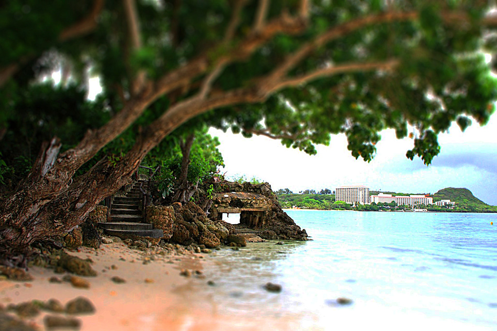 A beach of Guam