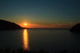 世久見湾の夕陽