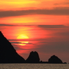 夕陽・和田海岸