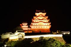 オレンジ色の姫路城 4