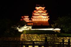 オレンジ色の姫路城 6