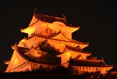オレンジ色の姫路城 10