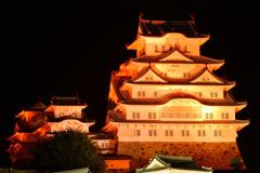 オレンジ色の姫路城 3