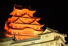 オレンジ色の姫路城 2