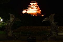 オレンジ色の姫路城 7