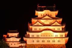 オレンジ色の姫路城 5