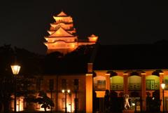 オレンジ色の姫路城 9