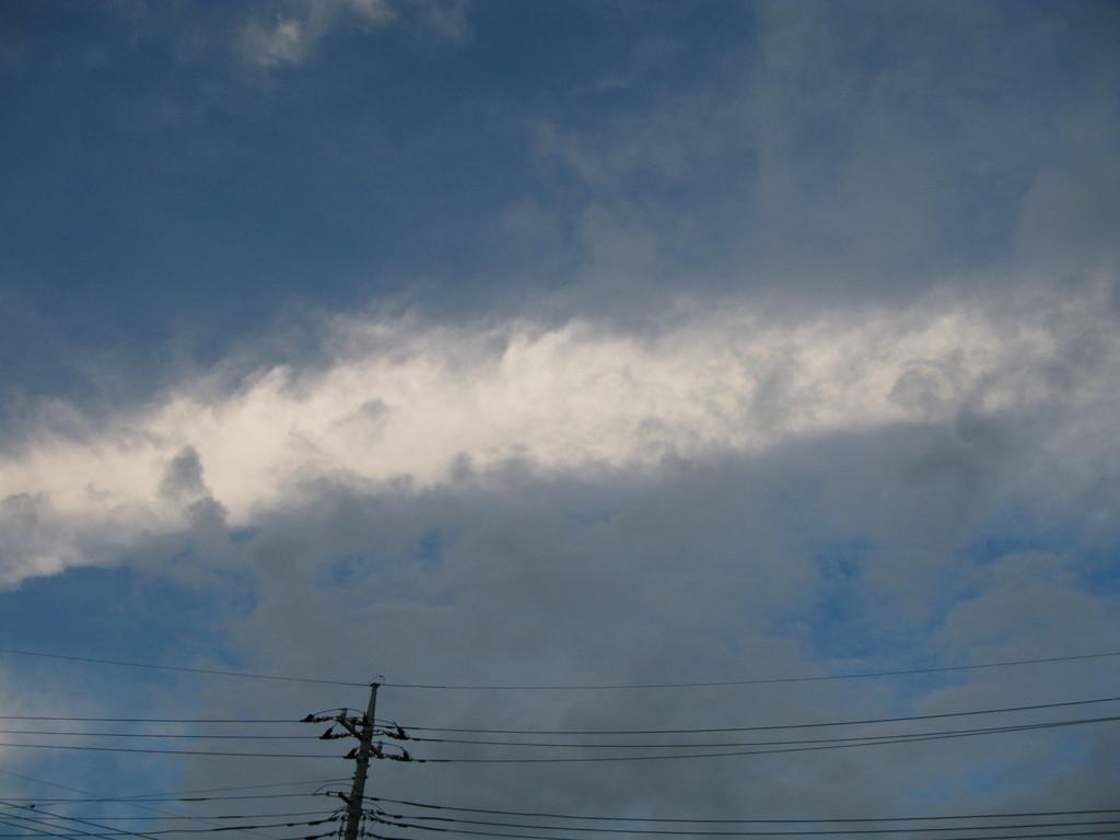 初めて見た雲の形