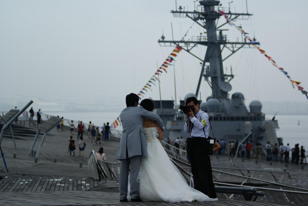 戦艦と花嫁とカメラマン