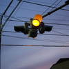 夕方の信号