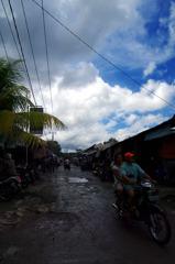 Market after rain