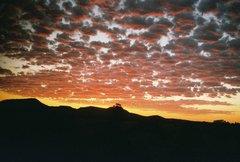 ニューメキシコの朝焼け