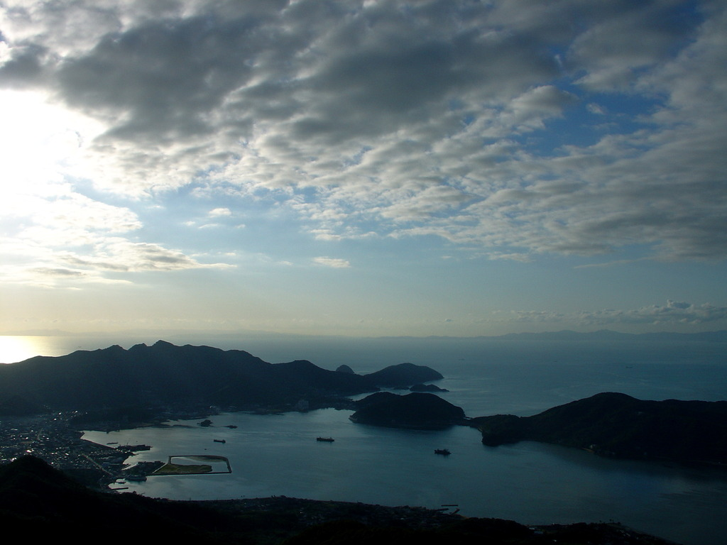 小豆島、海、空。