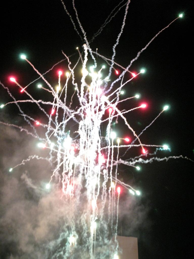 飛び散る花火