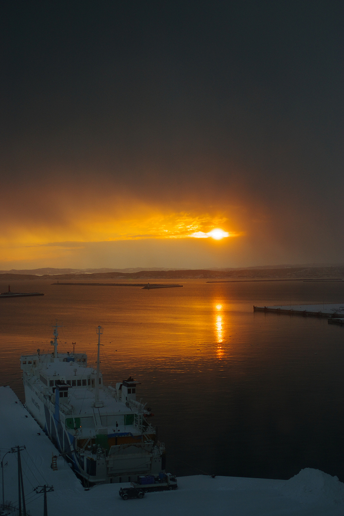 朝陽初撮り