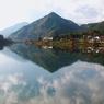 OLYMPUS E-10で撮影した風景(水鏡木曽川)の写真(画像)
