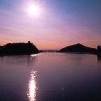 OLYMPUS E-1で撮影した風景(おおみそかの木曽川 )の写真(画像)