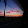 車窓より・夕焼け