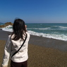 OLYMPUS E-1で撮影した人物(恋路ヶ浜にて)の写真(画像)