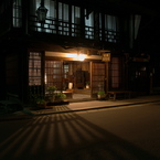 OLYMPUS E-1で撮影した建物(夜の奈良井)の写真(画像)