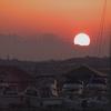 マリーナの夕日