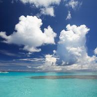 CANON Canon EOS 5Dで撮影した風景(塗り絵のような空と海)の写真(画像)