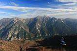 大観峰から見下ろす黒部平