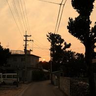 CANON Canon EOS 5Dで撮影した風景(島の夕暮れ)の写真(画像)