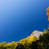 色づく稜線