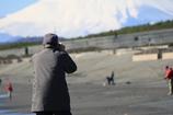 富士山とカメラマン