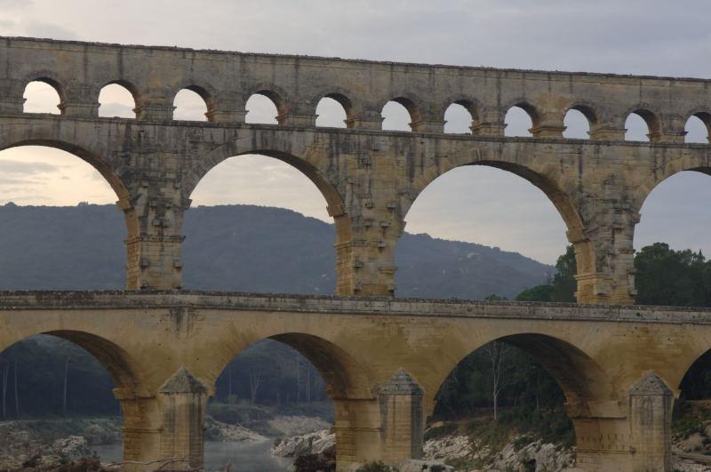 「ポンデュガールの水道橋」