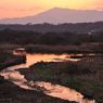 相模川の夕日1