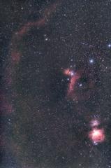 光害地で撮る天体 - バーナードループ~三ツ星~小三つ星