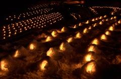 湯西川温泉かまくら祭2014④冬の蛍の光のごとく