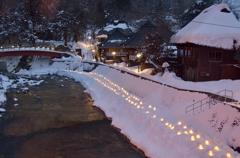 湯西川温泉かまくら祭2014①温泉街に温もりが灯る