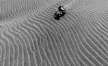ダンプカー 砂に埋もれる