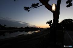 乙川の夕暮れ