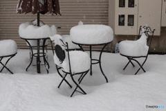 冬の日のカフェ