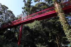 真福寺の赤い橋