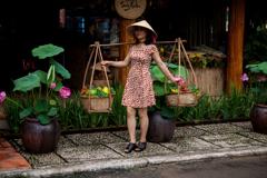 ベトナムの蓮と大根